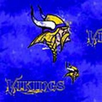 Minnesota Vikings Liquid Blue Cotton Logo Fabric