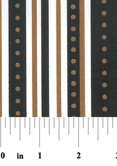 Black and Gold Stripe Fabric