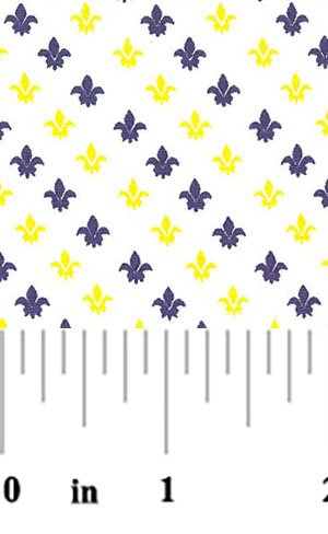 Fleur de Lis Purple and Gold #1992
