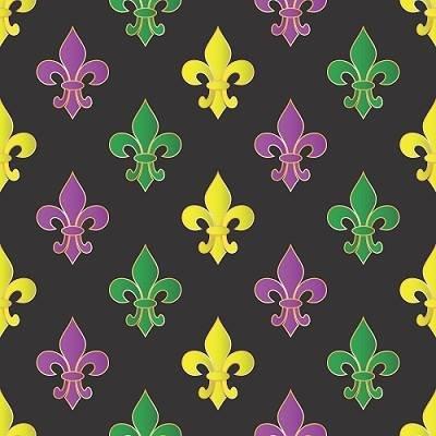 Mardi Gras Fleur de Lis on Black