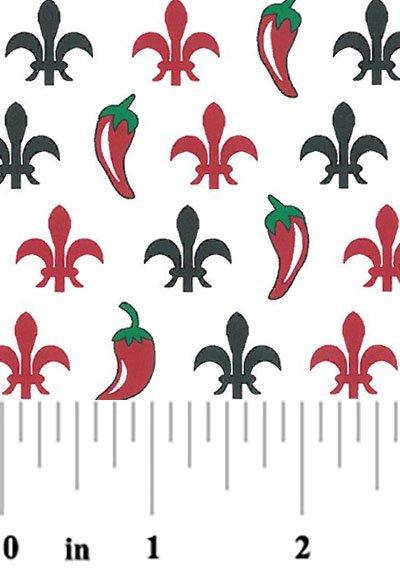 Fleur de Lis and Peppers #2046