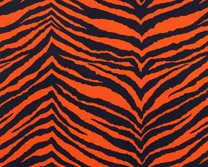 Orange and Navy Animal Print (TWILL)