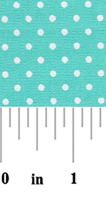 White Dots on Aqua #2174