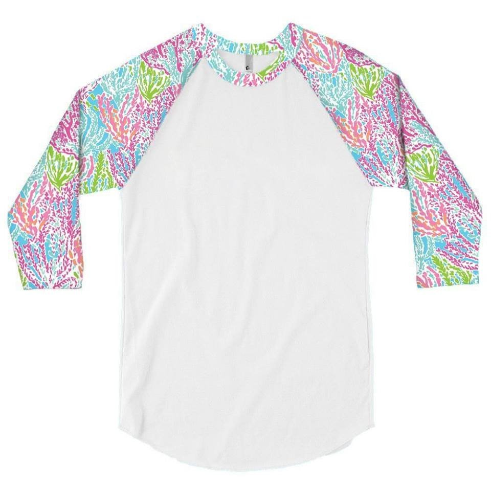 Coral Reef L/S Child Raglan