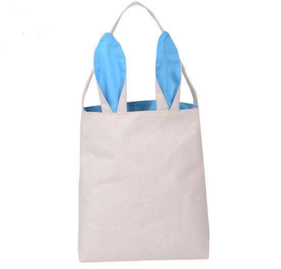 Blue Bunny Canvas Basket