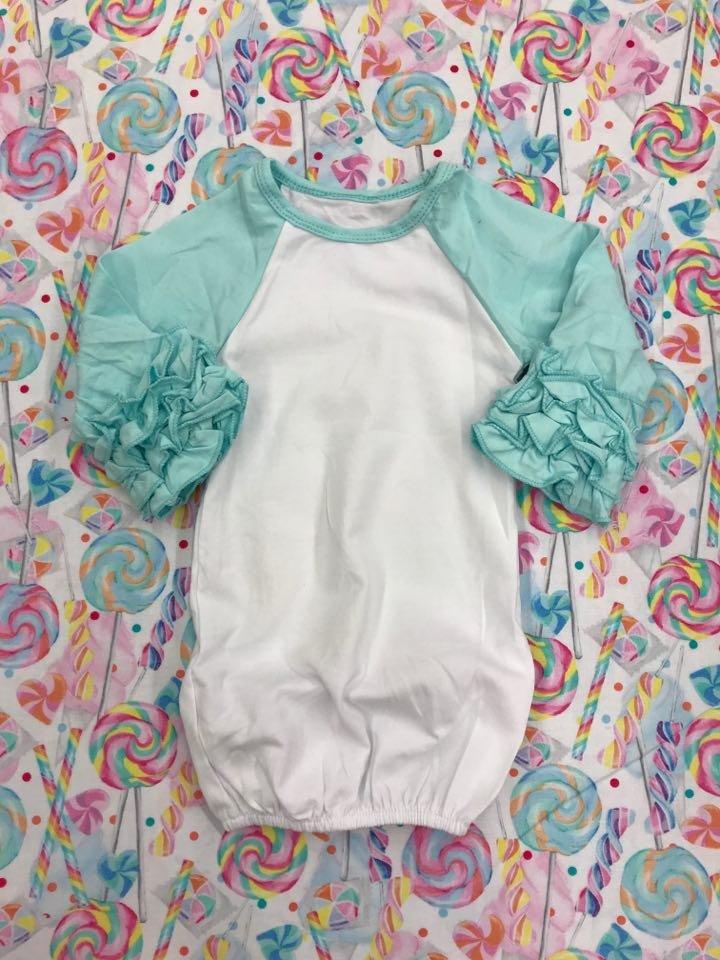 Aqua Baby Ruffle Gown