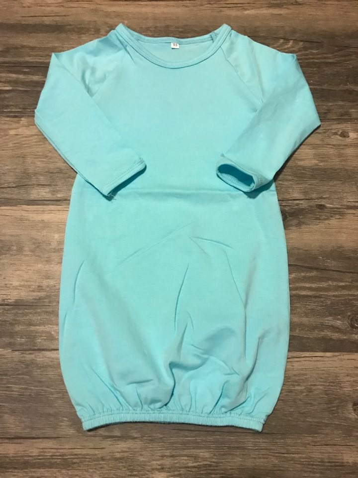Aqua Baby Gown No Ruffle