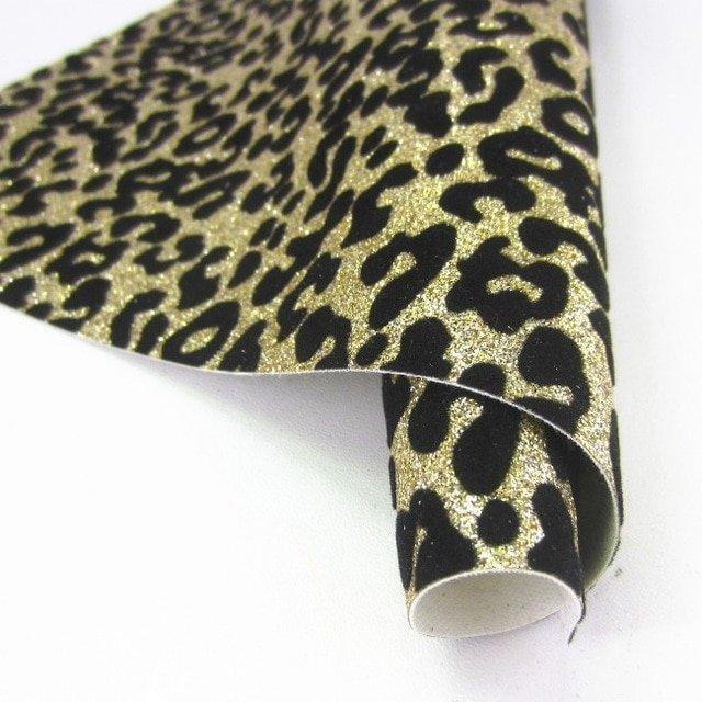 Gold Leopard Embroidery Glitter Sheet