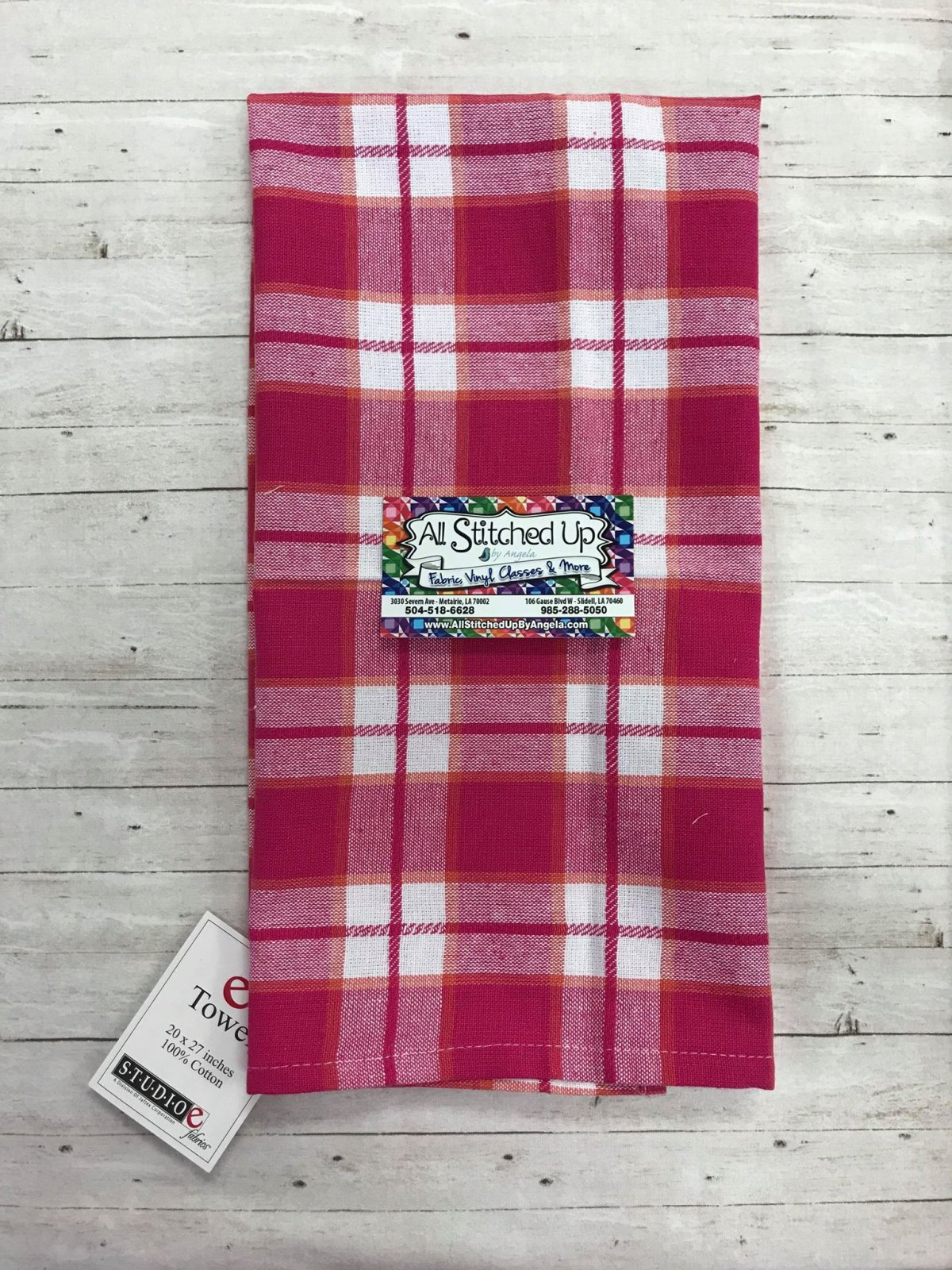 Pink Plaid Towel