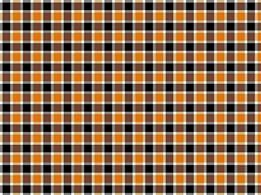 Orange and Black Plaid Adhesive Vinyl