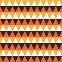 Brown Orange and Yellow Triangles Adhesive Vinyl