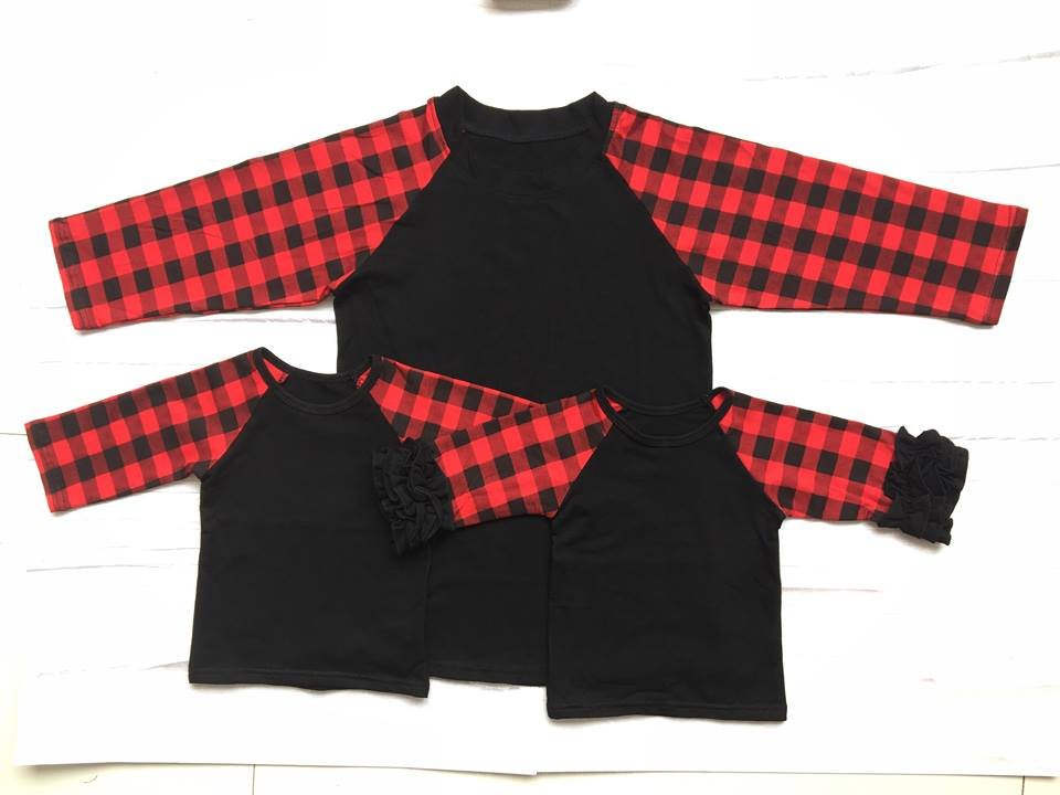 Buffalo Plaid Adult Raglan