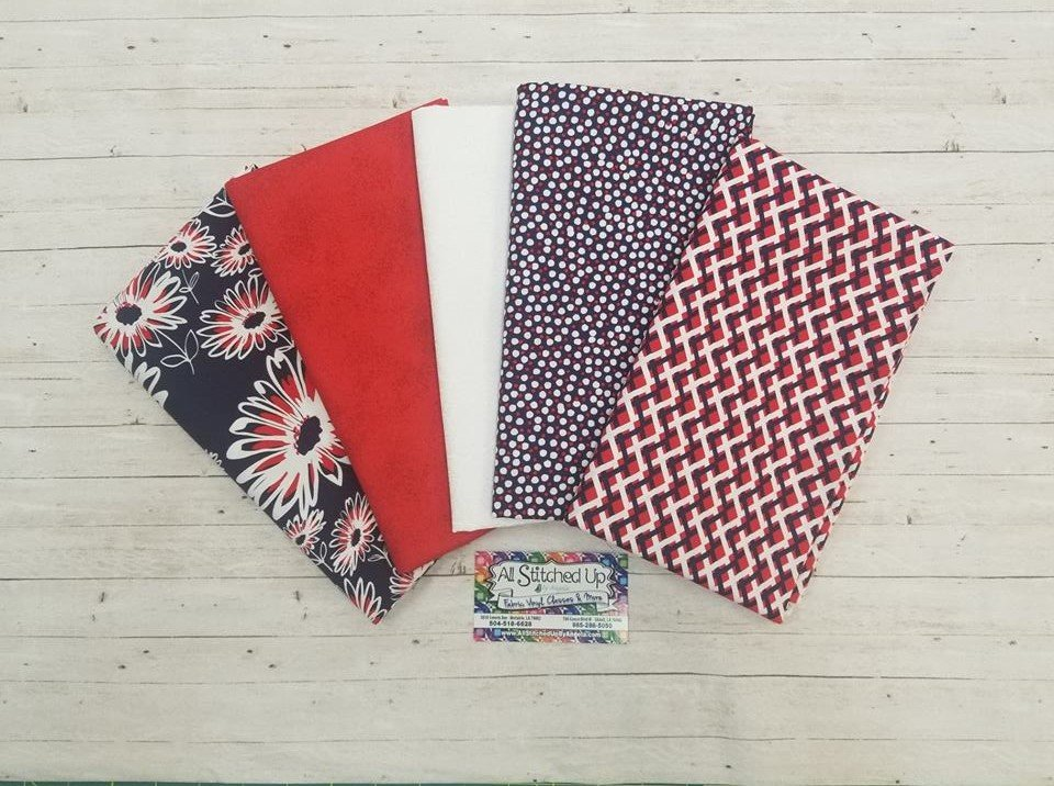 Red White and Blue 5 Yard Quilt KIt