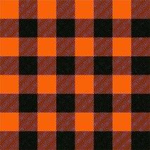 HTV Orange and Black Buffalo Plaid