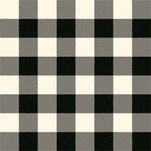 HTV Cream and Black Buffalo Plaid