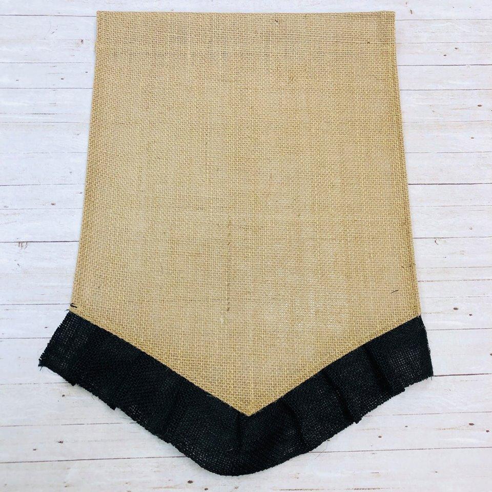 Black Ruffle Garden Flag