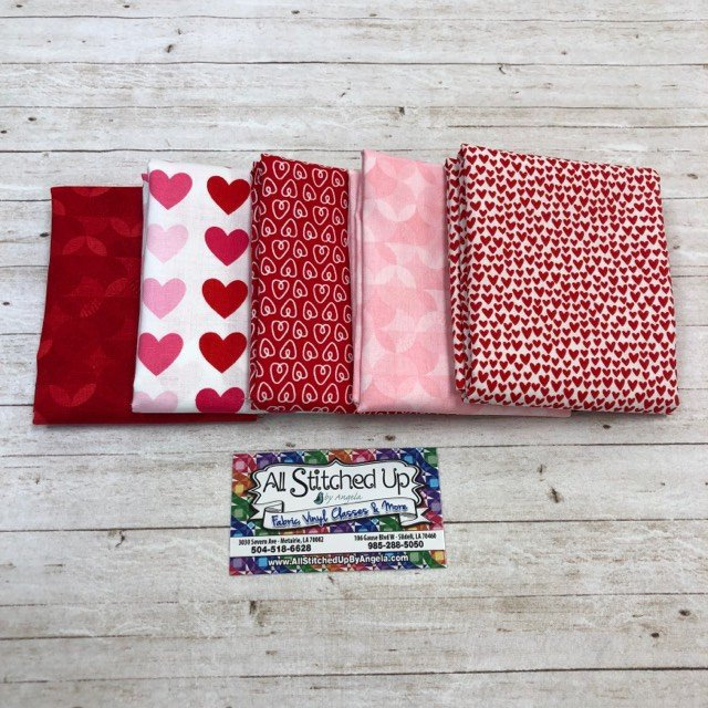 Red and Pink Hearts 5FQB