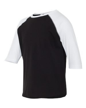 Youth LAT Baseball Jersey Black?White Sleeve