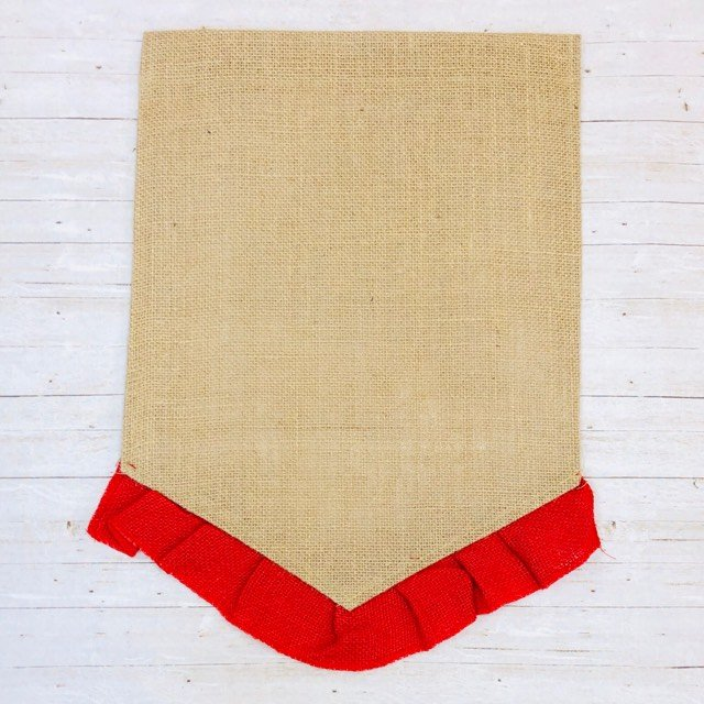 Bright Red Ruffle Garden Flag