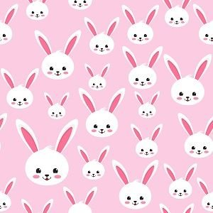 Bunny Faces on Pink Adhesive Vinyl
