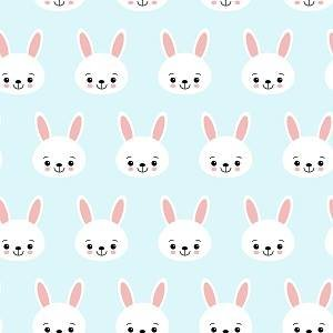 Bunny Faces on Blue Adhesive Vinyl