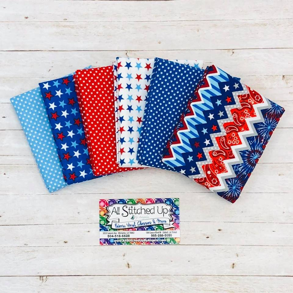 Red White and Blue Chevron 6FQB