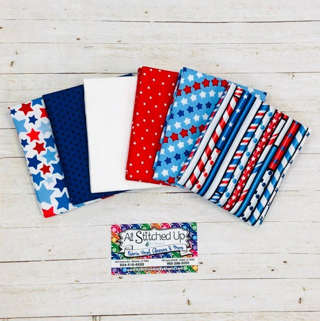Red White and Blue Straws and Stripes 6FQB