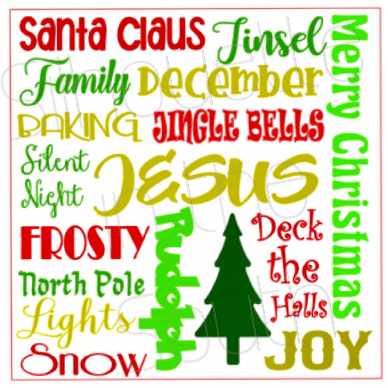 Christmas Subway Art.Silhouette Daytime Tis The Season Workshop Christmas