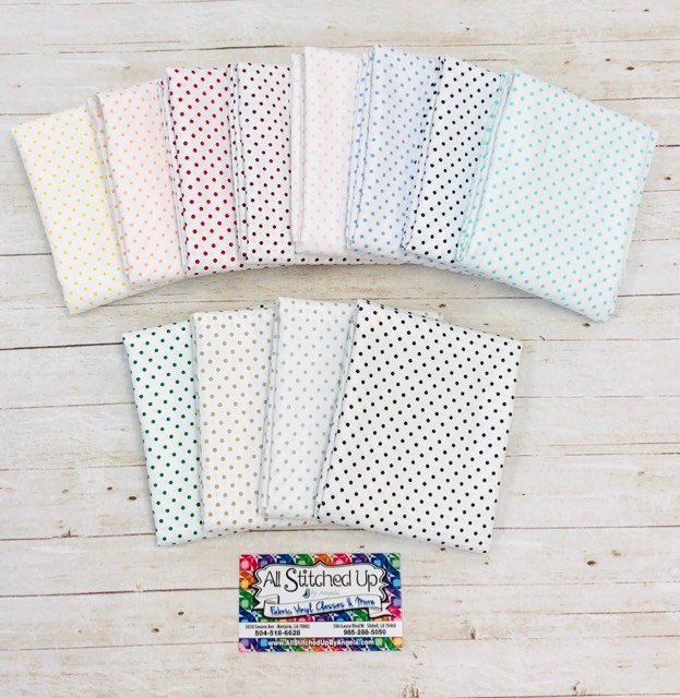 Colored Dots on White Background 12 FQB