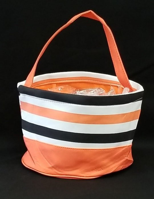 Black and Orange Stripe Halloween Bucket