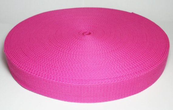 1.25 inches Fuchsia Cotton Webbing