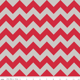 Medium Chevron Red and Gray