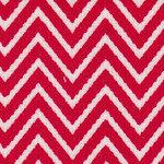 Red/White Chevron Print Cotton Corduroy