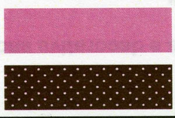 Babyville Boutique Fold Over Elastic - Brown with Dots and Solid Pink