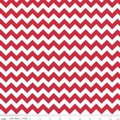 Knit Small Chevron Red - Riley Blake