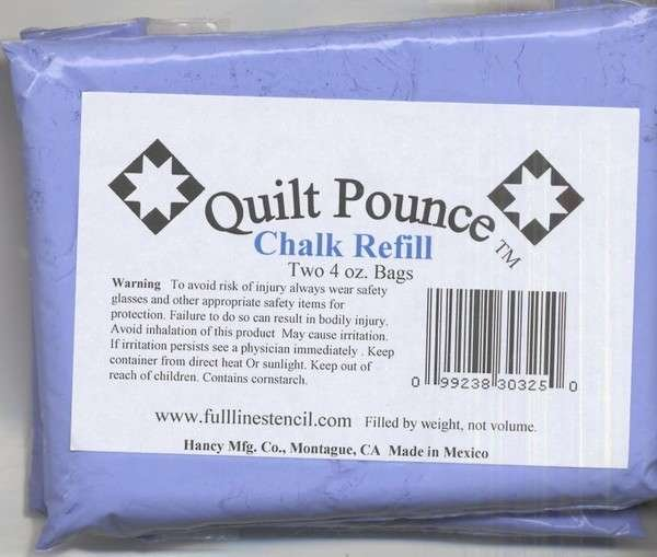 Stencil Chalk Refill for Quilt Pounce Pad Blue
