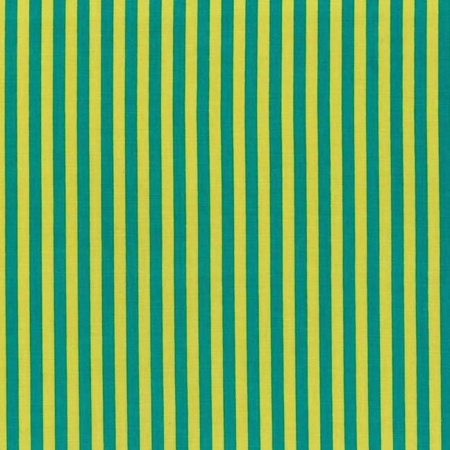 Clown Stripe by Michael Miller Teal