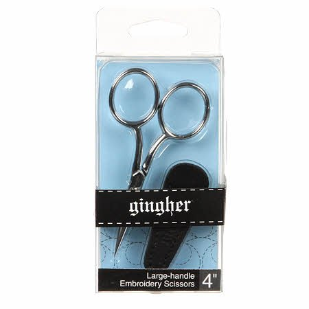 Gingher Scissor 4in Embroidery with Sheath - Large Handle
