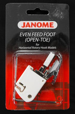 Janome even Feed Foot (Open-Toe) for Horizontal Rotary Hook Models