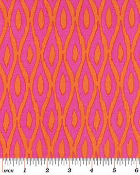 Tango Ikat Pink/Orange by Greta Lynn for Benartex