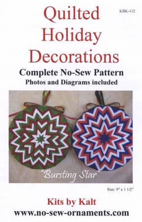 Bursting Star  -Quilted Holiday Ornaments