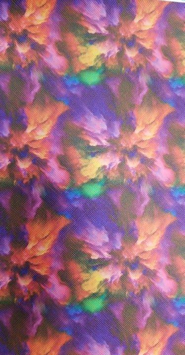 Color Burst Faux Leather