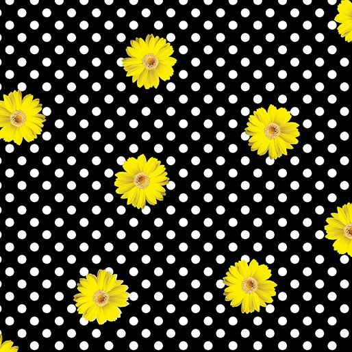 Daisy Dot Black/Yellow