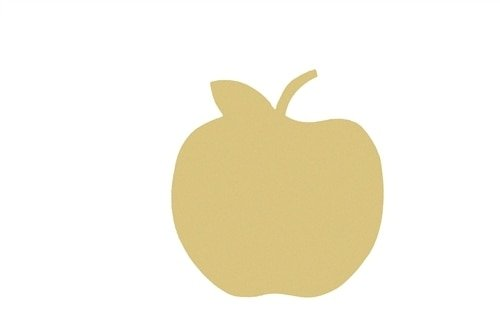 Apple Unfinshed Cutout 5 x 1/8