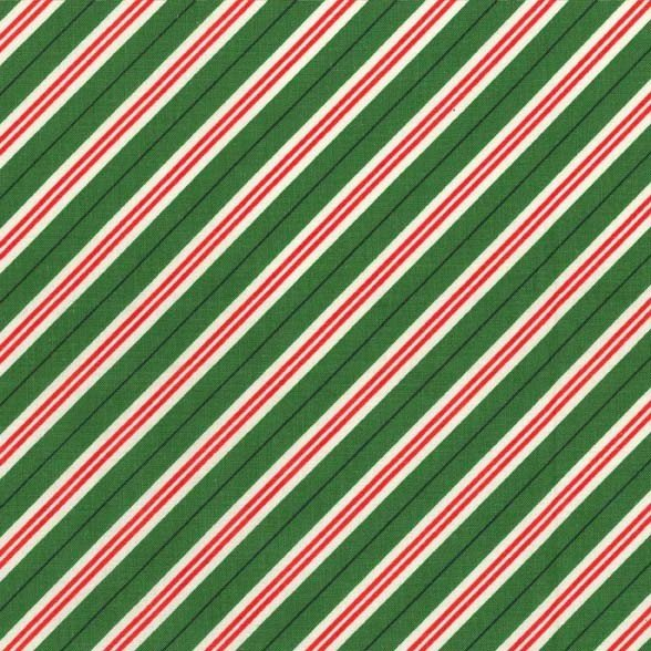 Mini Candy Cane Stripe - Green by Michael Miller