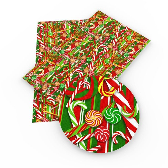 Christmas Candy Faux Leather