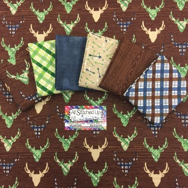 The Great Outdoors Brown Fat Quarter Bundle