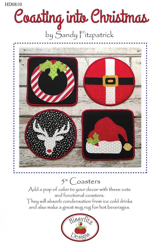 Coasting into Christmas Coaster Pattern