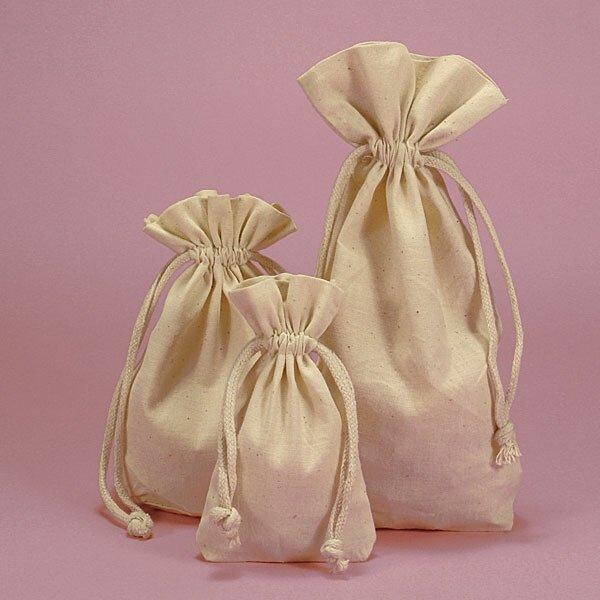 Medium Cotton Muslin Bag