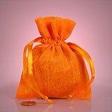 6 x 9 Orange Muslin Bag